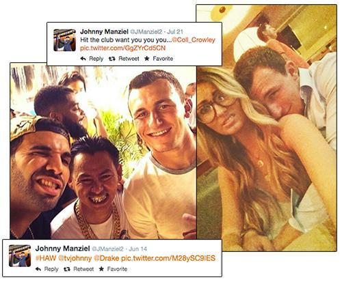 Photos and tweets from Johnny Manziel