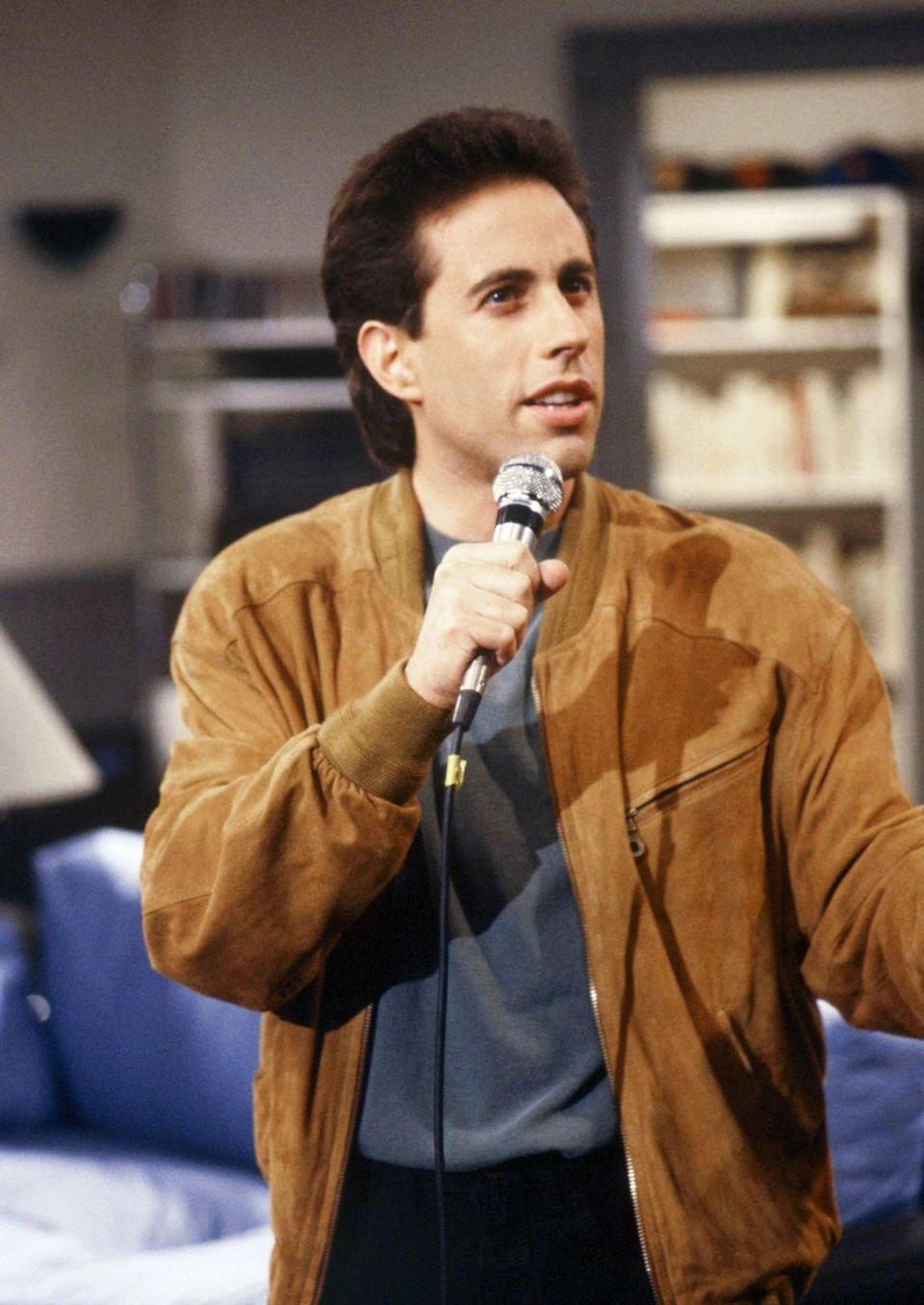 """<p>Since the show is conceptuality tied to stand-up, most episodes opened with a clip of Seinfeld's routine. After that comes the famous opening music, but many people don't know that the theme song's <a href=""""https://www.insider.com/seinfeld-fun-facts-2018-10#the-theme-song-was-different-in-every-episode-3"""" rel=""""nofollow noopener"""" target=""""_blank"""" data-ylk=""""slk:rhythm was different for each episode"""" class=""""link rapid-noclick-resp"""">rhythm was different for each episode</a>. </p>"""