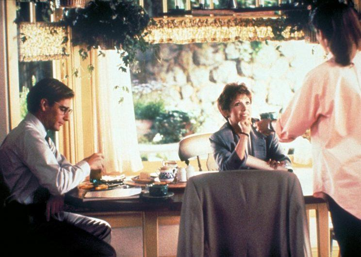 <p><em>Sibling Rivalry</em>, 1990, with Scott Bakula, Carrie Fisher, and Kirstie Alley. (Photo: Everett Collection)</p>