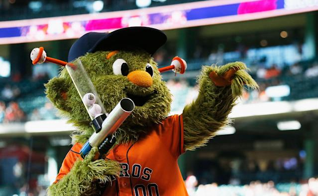 A woman sued the Astros after breaking her finger in a t-shirt gun mishap. (Photo by Scott Halleran/Getty Images)