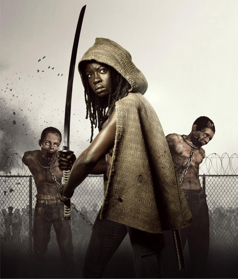 "Danai Gurira stars as Michonne in Season 3 of ""The Walking Dead"" on AMC."