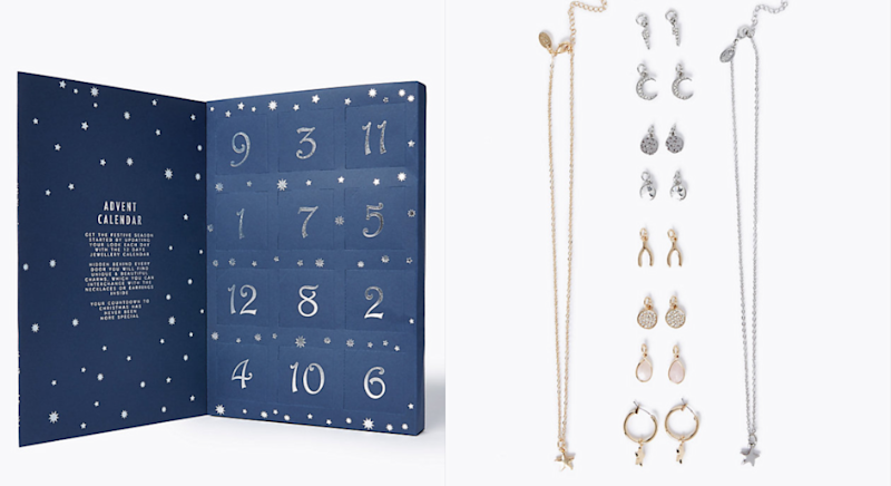 The £19.50 advent calendar features gifts for the 12 days of Christmas. [Photo: Marks & Spencer]