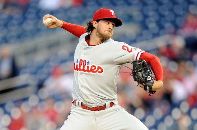The Phillies need more pitching behind Aaron Nola. (Photo by Greg Fiume/Getty Images)