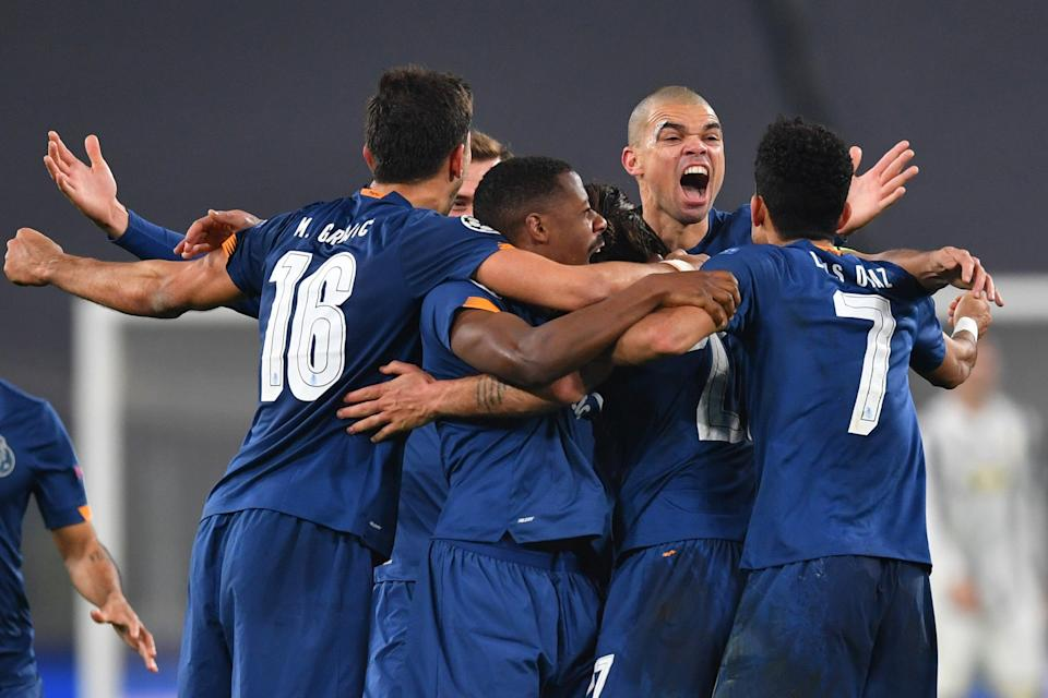 Porto celebrate their second goal in extra-timeGetty