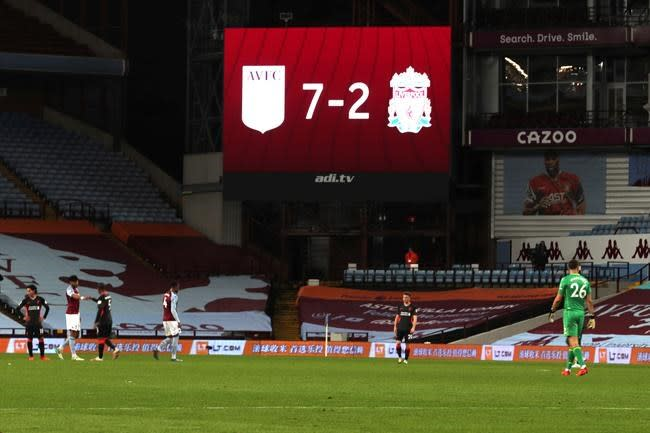 Liverpool embarrassed in 7-2 loss to Aston Villa in EPL