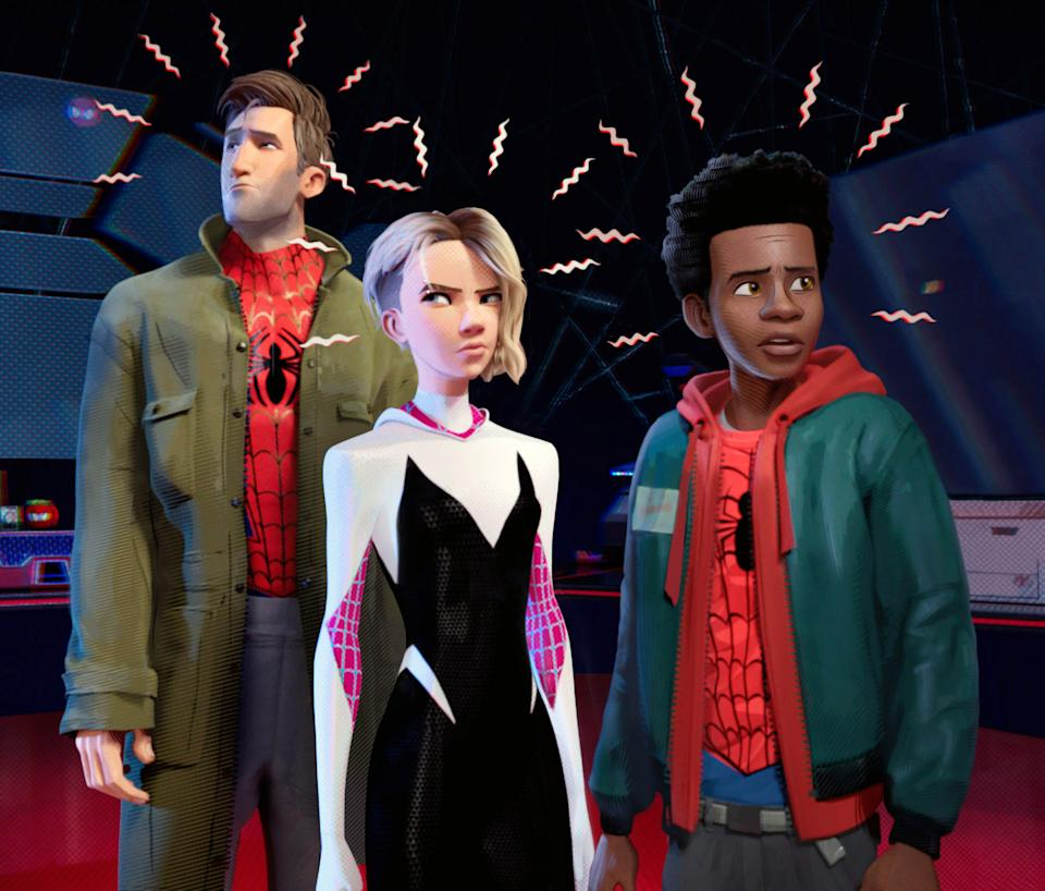 How Spider-Man's spider-sense ability was depicted in 'Spider-Man: Into the Spider-Verse' (Photo: Columbia Pictures / courtesy Everett Collection)