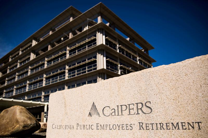 FILE PHOTO: The California Public Employees' Retirement System headquarters seen in Sacramento