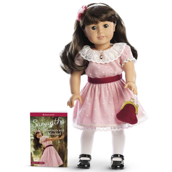 """<p>This """"Victorian,"""" or more properly, <em>Edwardian</em>-era doll lives in 1904 and is an orphan who lived with her grandmother. Samantha's best quality might have been befriending the servant girl Nellie and helping out the underprivileged family. A young AnnaSophia Robb brought the character to life in <em>Samantha: An American Girl Holiday</em>.</p>"""
