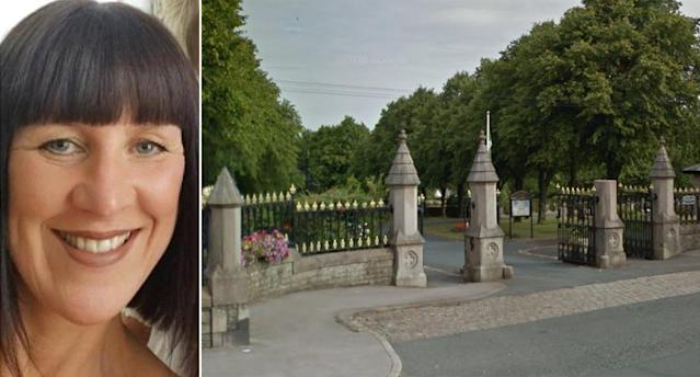 Lindsay Birbeck, left, and the cemetery where she was found. (PA Images/Google Maps)