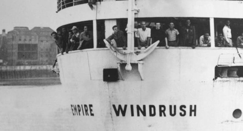 The Empire Windrush brought settlers from the Caribbean over to the UK after the Second World War