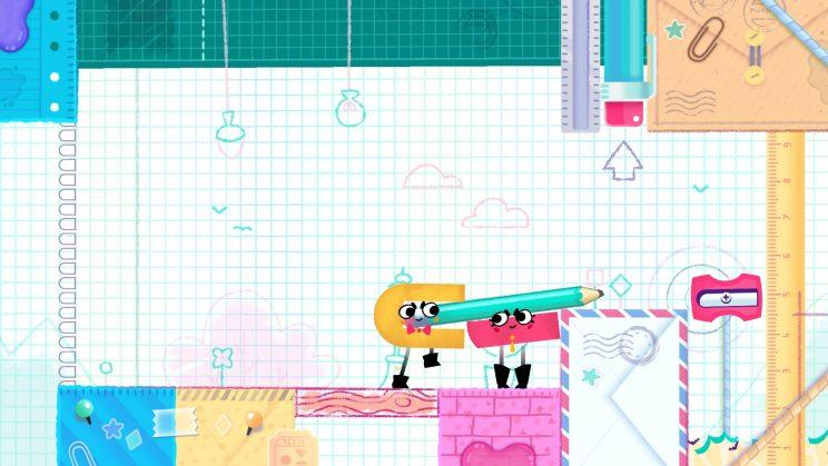 Snipperclips screenshot.