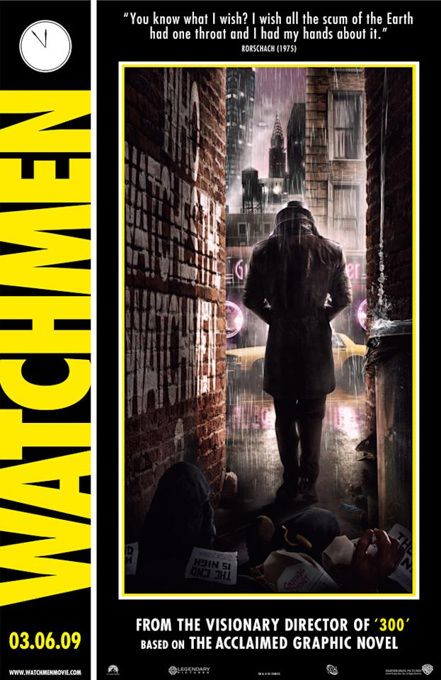 """2008 Comic-Con poster for Warner Bros. Pictures' <a href=""""http://movies.yahoo.com/movie/1808406490/info"""">Watchmen</a> - 2009"""