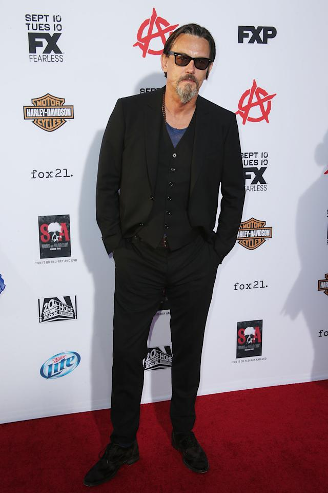 "HOLLYWOOD, CA - SEPTEMBER 07: Actor Tommy Flanagan attends the Premiere of FX's ""Sons of Anarchy"" Season 6 at the Dolby Theatre on September 7, 2013 in Hollywood, California. (Photo by Frederick M. Brown/Getty Images)"