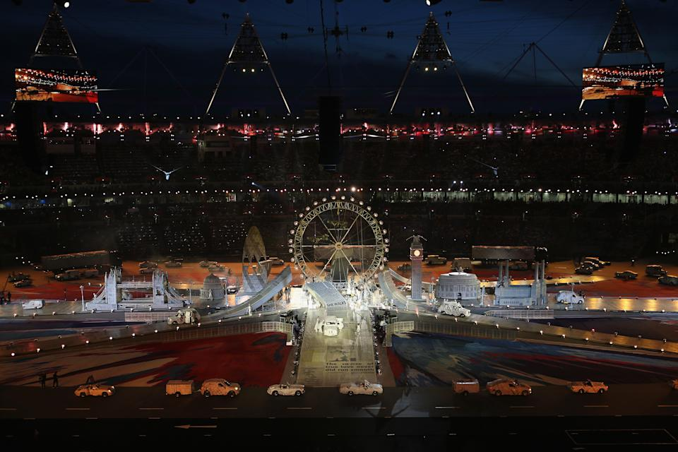 A general view of the stadium during the Closing Ceremony on Day 16 of the London 2012 Olympic Games at Olympic Stadium on August 12, 2012 in London, England. (Photo by Clive Brunskill/Getty Images)