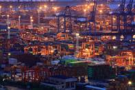 FILE PHOTO: Containers are seen at Yantian port in Shenzhen