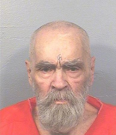 """FILE PHOTO: Charles Manson, the cult leader who sent followers known as the """"Manson Family"""" out to commit gruesome murders, currently being held at California State Prison, Corcoran, California, U.S. is seen in this August 2017 photo released on November 16, 2017.   Courtesy California Department of Corrections and Rehabilitation/Handout via REUTERS/File photo"""