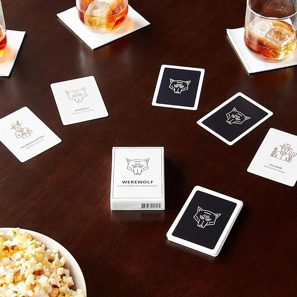 """<h2>Werewolf: A Party Game For Devious People<br></h2><br>For your diehard Cards Against Humanity-loving crew. <br><br><strong>Stellar Factory</strong> Werewolf: A Party Game for Devious People, $, available at <a href=""""https://www.amazon.com/dp/B01MTMWYES"""" rel=""""nofollow noopener"""" target=""""_blank"""" data-ylk=""""slk:Amazon"""" class=""""link rapid-noclick-resp"""">Amazon</a>"""