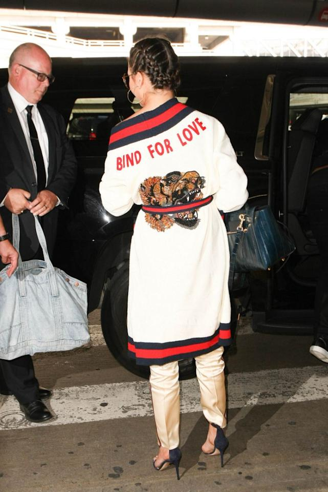 <p>The star is a master of the comfy-yet-chic look. </p>