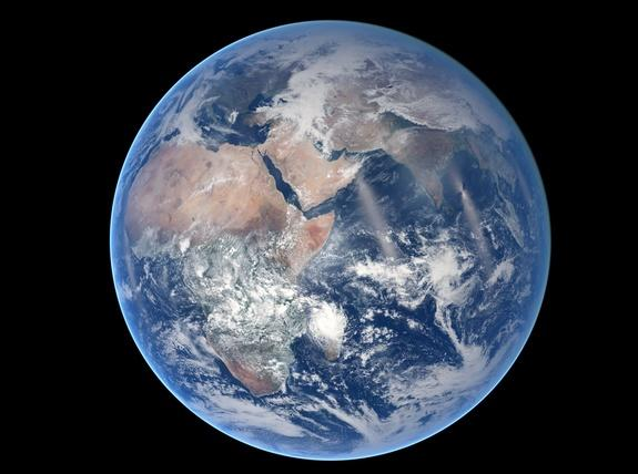 Earth's Eastern Hemisphere Stuns in Photo from Space