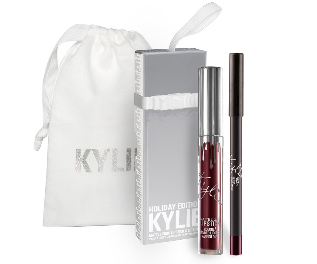 "<p>This isn't your average Kylie Cosmetics lipkit. The deep plum shade that's a part of Jenner's first holiday collection is packaged in a silver box that doubles as a tree ornament. The fact that you were able to add the new release to your shopping cart before it sold out is guaranteed to earn you Brownie Points.</p> <p>$30 | <a rel=""nofollow"" href='https://www.kyliecosmetics.com/collections/holiday/products/free-gift-bag-vixen-lip-kit'>SHOP IT</a></p>"