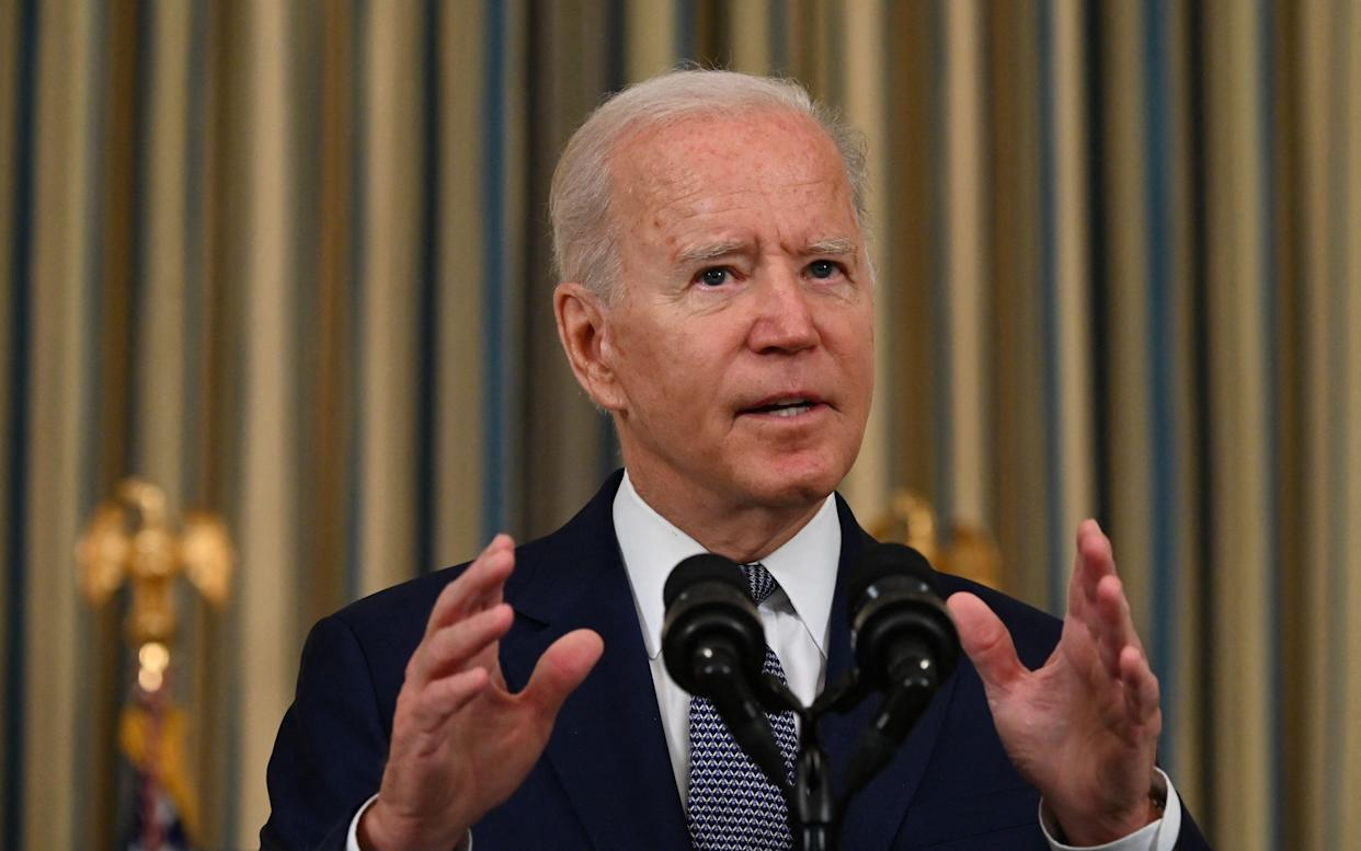 President Biden delivers remarks at the White House on Friday.