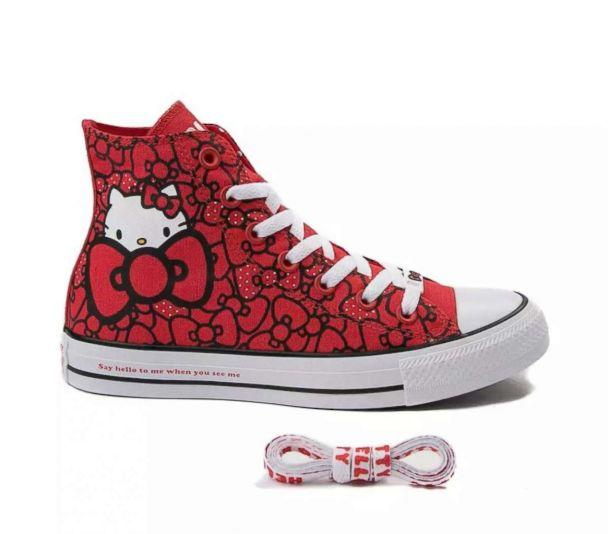 PHOTO: The new Chuck Taylor All Star Hi Hello Kitty Bows Sneaker. (Journey's)
