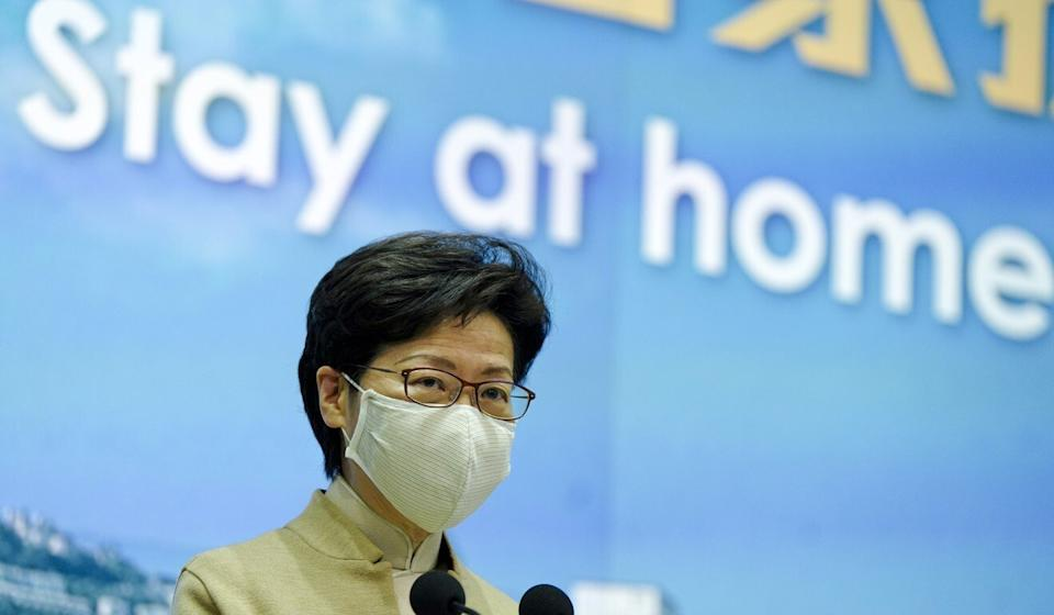 Chief Executive Carrie Lam has called on all residents to remain at home as much as possible. Photo: Sam Tsang