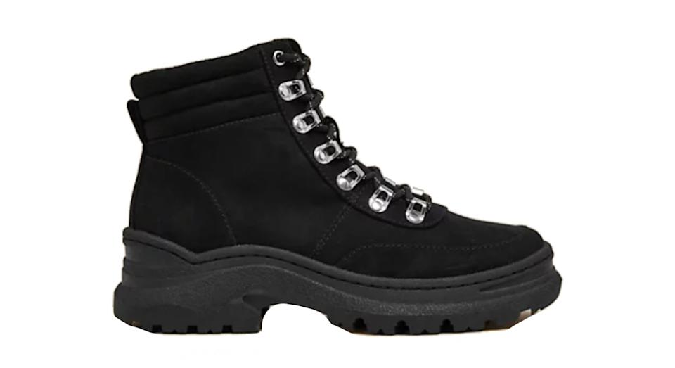 Chunky Hiker Flat Ankle Boots