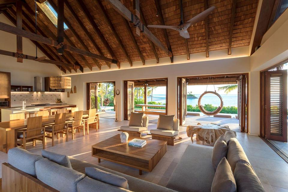 """<p>Set like a jewel in crystal-clear turquoise Fijian waters, the tropical volcanic island of Malolo is the ideal spot for scuba-diving. Located on one of the most beautiful islands in the archipelago, the 120-acre <a href=""""https://urldefense.com/v3/__http:/www.sixsenses.com/__;!!Ivohdkk!2CfGg5KTx3Z-D8SRxHvRSWhZdW3xxu5kL7wjciuqKc-0EriSd48T9D1BvyqU65sebGDnMZ2A8VGD$"""" rel=""""nofollow noopener"""" target=""""_blank"""" data-ylk=""""slk:Six Senses resort"""" class=""""link rapid-noclick-resp"""">Six Senses resort </a>comprises a sandy bay, two marinas and gigantic prehistoric Baka trees. With 24 pool villas and 60 villas, it is a magical spot from which to enjoy the wonders of Fiji – from hill-top hiking to top-notch South Pacific cuisine.</p>"""