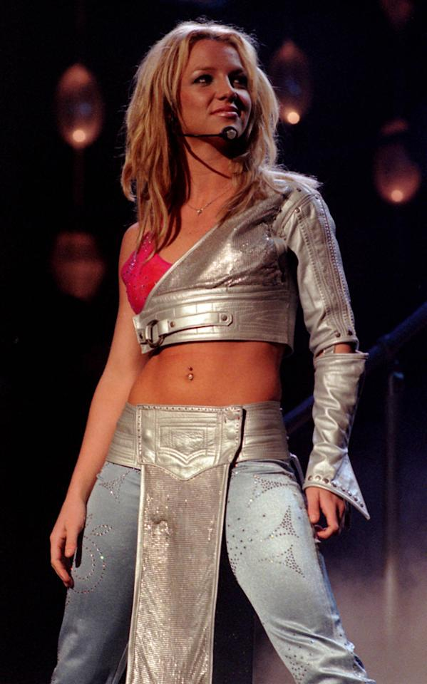 Britney donned a futuristic silver number for a performance at London Arena in 2000.