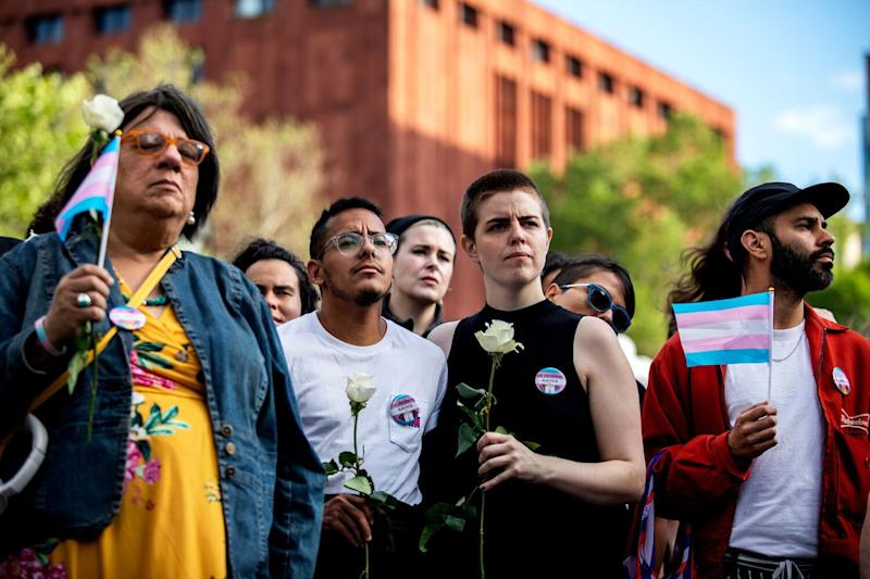 People protest the killings of transgender women this year during a rally at Washington Square Park in New York, U.S., May 24, 2019. (Photo: Reuters)