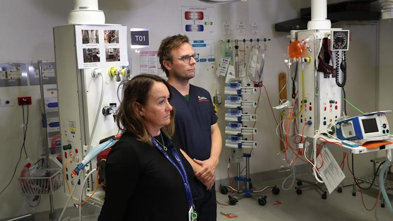 Staff at Royal Melbourne Hospital's emergency department get confronted by frightening situations