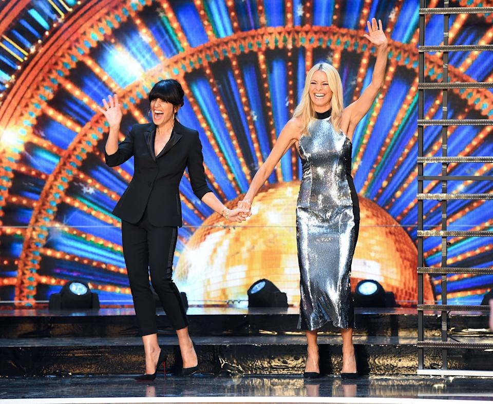 Claudia with Strictly co-host Tess Daly (Photo: Doug Peters/EMPICS Entertainment)