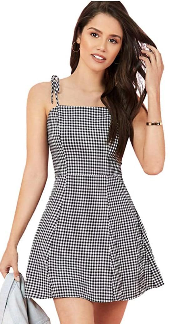 <p>You're all set for your spring picnics in this <span>SweatyRocks Gingham Dress</span> ($15 and up).</p>