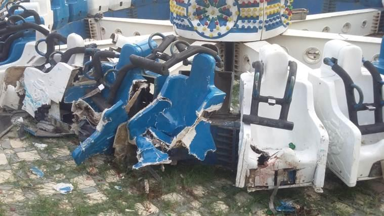 Ahmedabad news, ahmedabad joyride collapse, kankaria joyride collpase, Kankaria Adventure park, ahmedabad adventure park, joyride collpase, ahmedabad joyride collapse. gujarat joyride collpase, death in ahmedabad joyride collpase, indian express