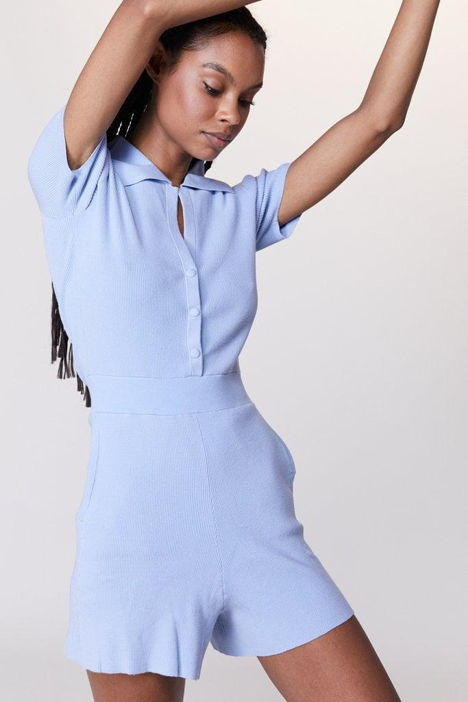 <p>This <span>Live the Process Seamless Playsuit</span> ($278) is so flattering, and the color is refreshing.</p>