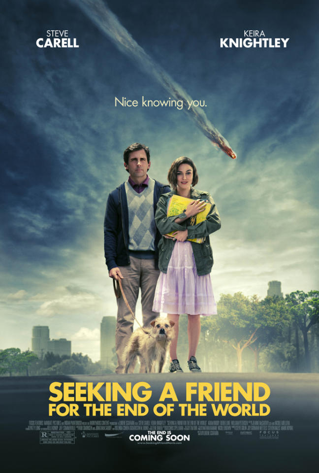 "Steve Carrell and Keira Knightley star in Focus Features' <a href=""http://movies.yahoo.com/movie/seeking-a-friend-for-the-end-of-the-world/"">Seeking a Friend for the End of the World</a> - 2012"