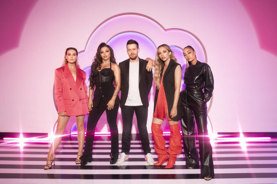 Little Mix and Chris Ramsay host BBC talent show The Search. (BBC)