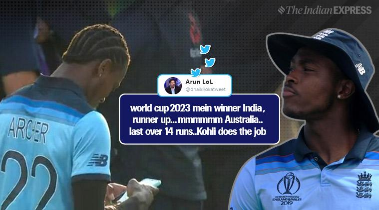 cricket world cup final, icc world cup, cwc final 2019, england vs new zealand, jofra archer, jofra archer old tweets, jofra archer super over tweets, viral news, sports news, cricket news, indian express