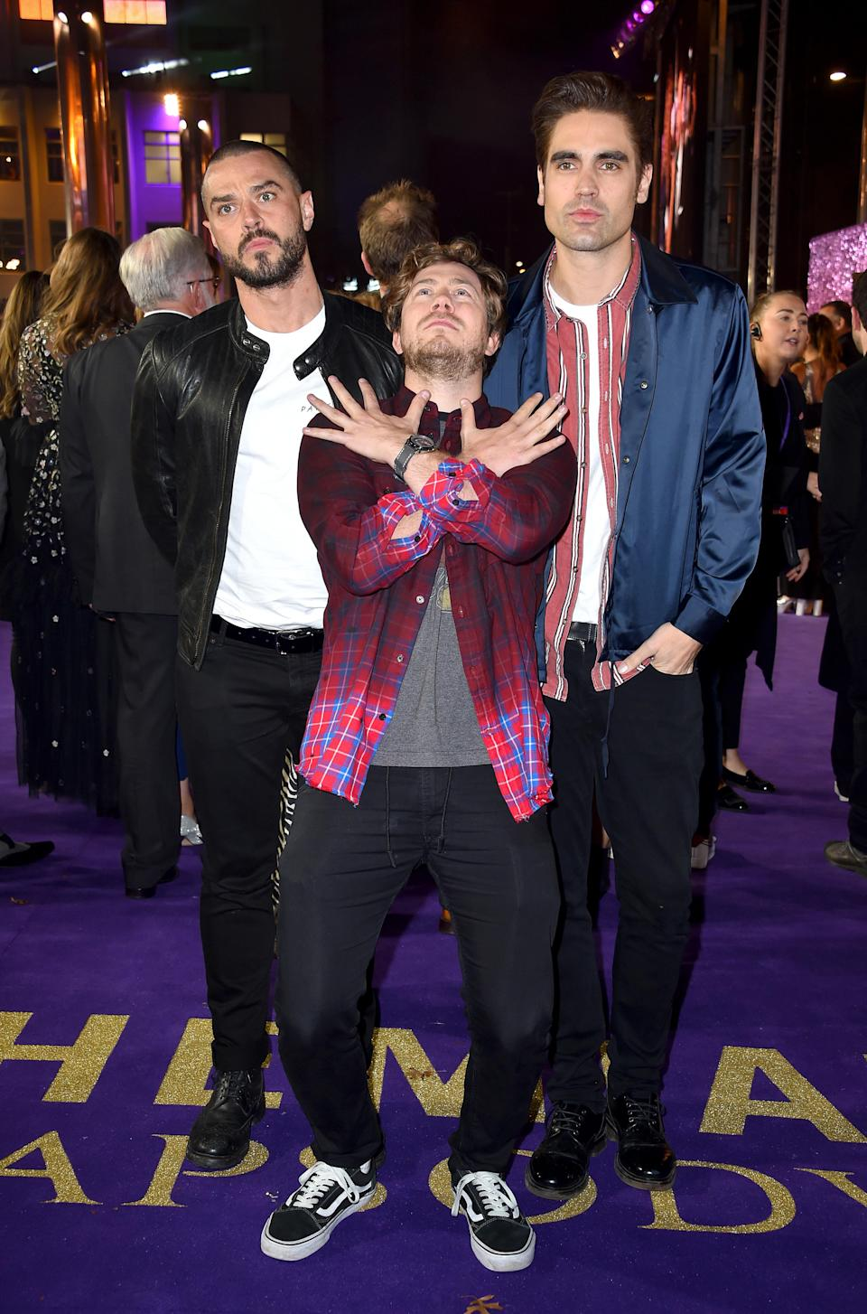 Matt Willis, James Bourne and Charlie Simpson from Busted (Matt Crossick/PA)