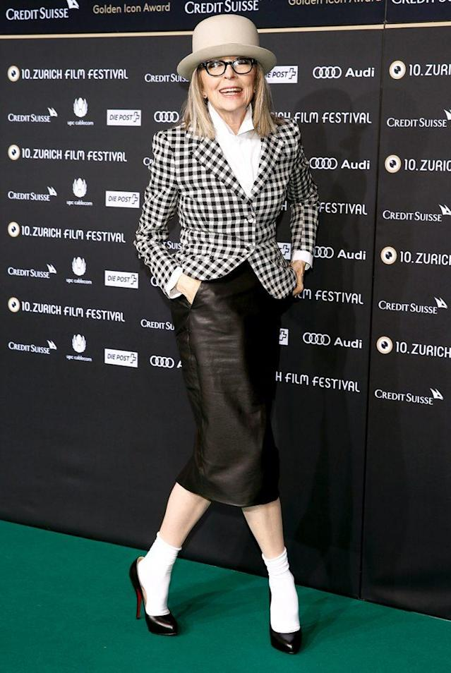 Diane Keaton attends a 2014 movie premiere. (Photo: Andreas Rentz/Getty Images for ZFF)