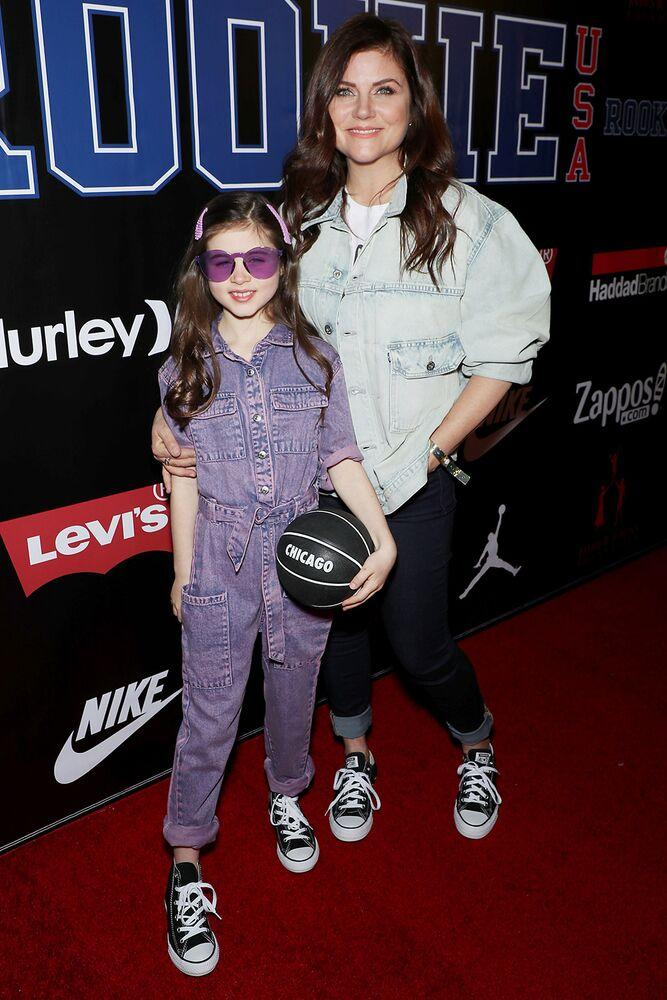 Tiffani Thiessen (R) and daughter Harper at the 11th Annual Rookie USA Fashion Show   Marion Curtis/StarPix for Haddad Brands/Shutterstock