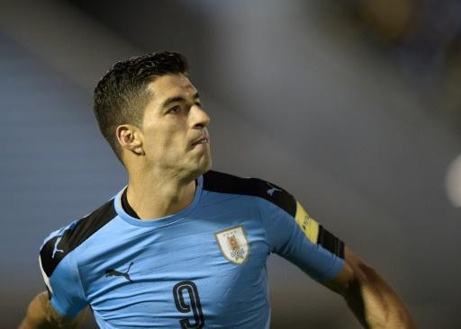 Uruguay's Luis Suarez scored against Bolivia during a World Cup qualifier in Montevideo, on October 10, 2017