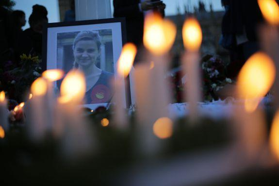 """A candle-lit memorial for Labour MP Jo Cox who was killed on June 16, 2016. While serving in the British parliament, Cox said, """"I will not live in a country where thousands of people are living lonely lives forgotten by the rest of us.''"""