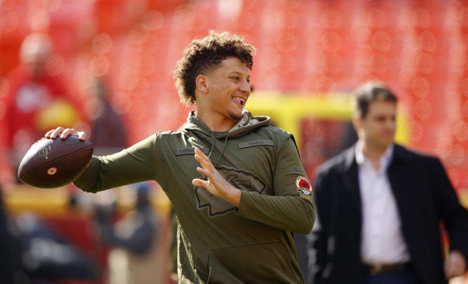 Patrick Mahomes is a crazy about ketchup as he is about throwing touchdown passes. (AP)