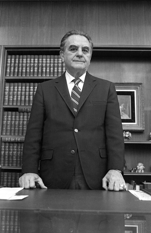 <p>U.S. District Court Judge John Sirica in his office in Washington on Jan. 31, 1973. (Photo: AP) </p>