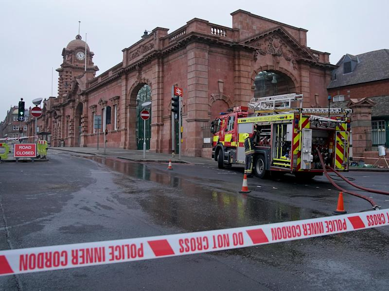 The fire is thought to have been started in a toilet at 6.25am, ahead of the morning rush hour: Getty