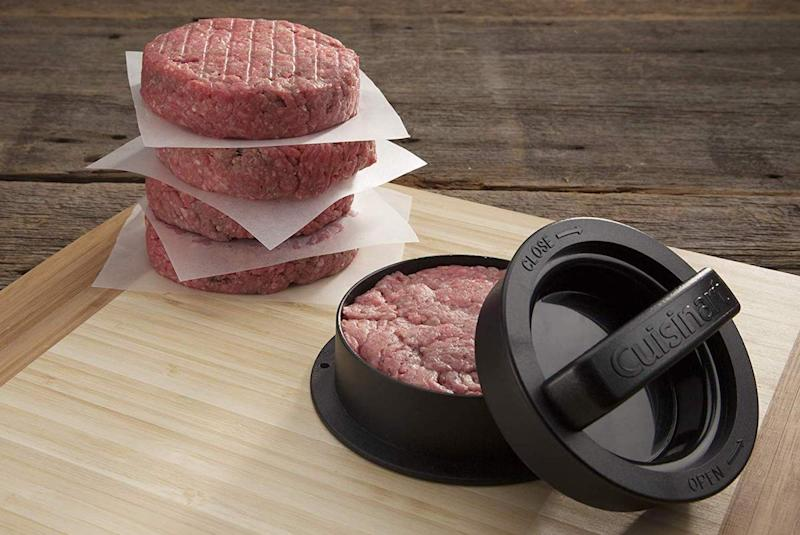 Mold a perfect burger, and stuff it with anything you like. (Photo: Amazon)