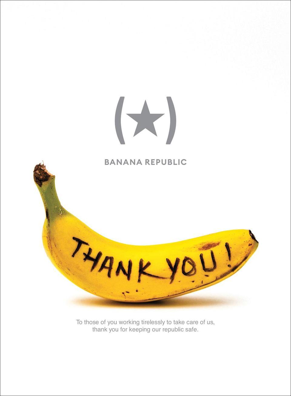 <p>Thank you! To those of you working tirelessly to take care of us, thank you for keeping our republic safe.</p>