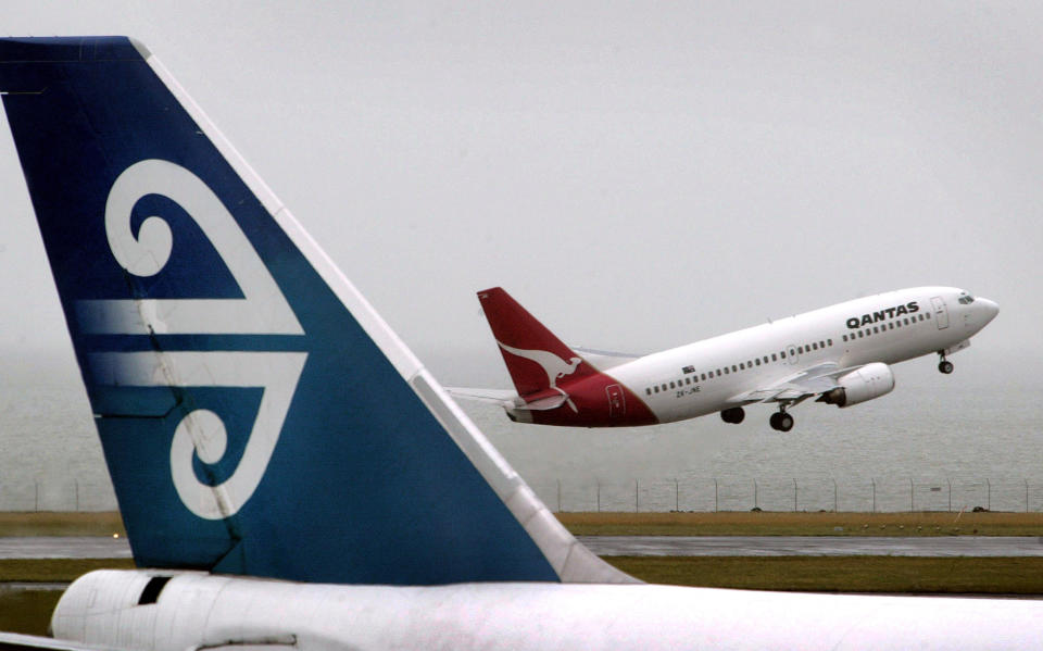 A Qantas aeroplane takes off at Auckland International airport. Source: AAP